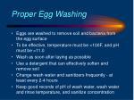 proper egg washing