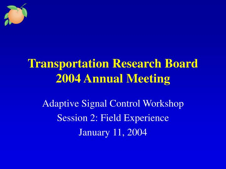 transportation research board 2004 annual meeting n.