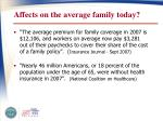 affects on the average family today