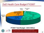 dod health care budget fy2007