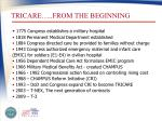 tricare from the beginning