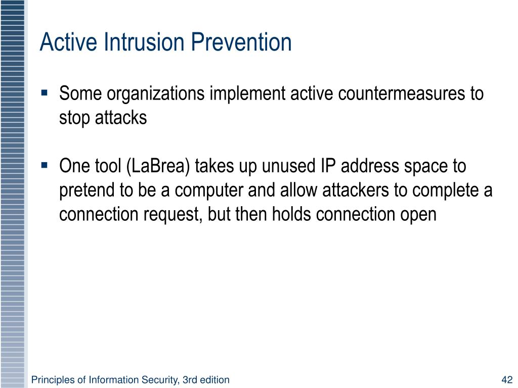Active Intrusion Prevention
