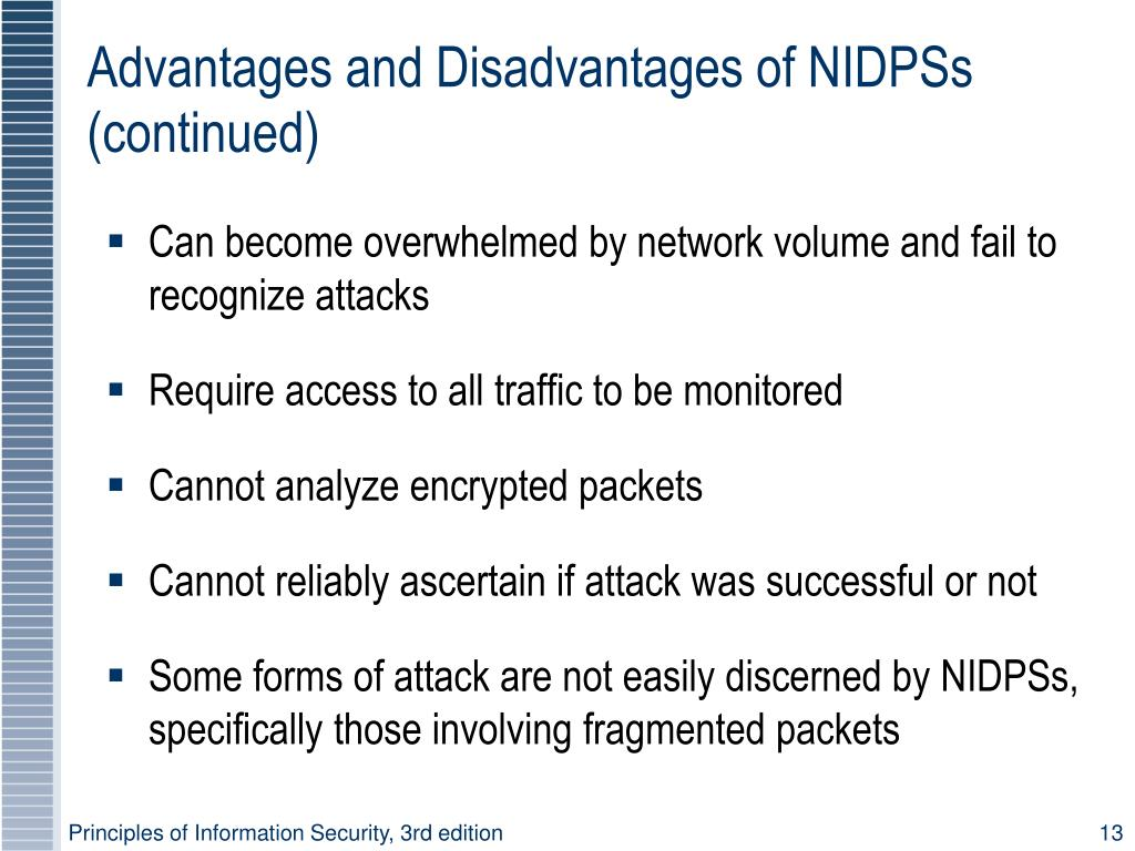 Advantages and Disadvantages of NIDPSs (continued)