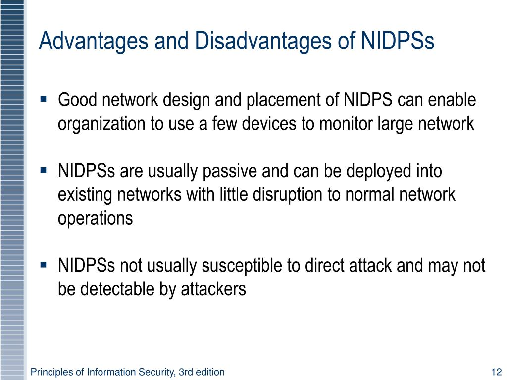Advantages and Disadvantages of NIDPSs