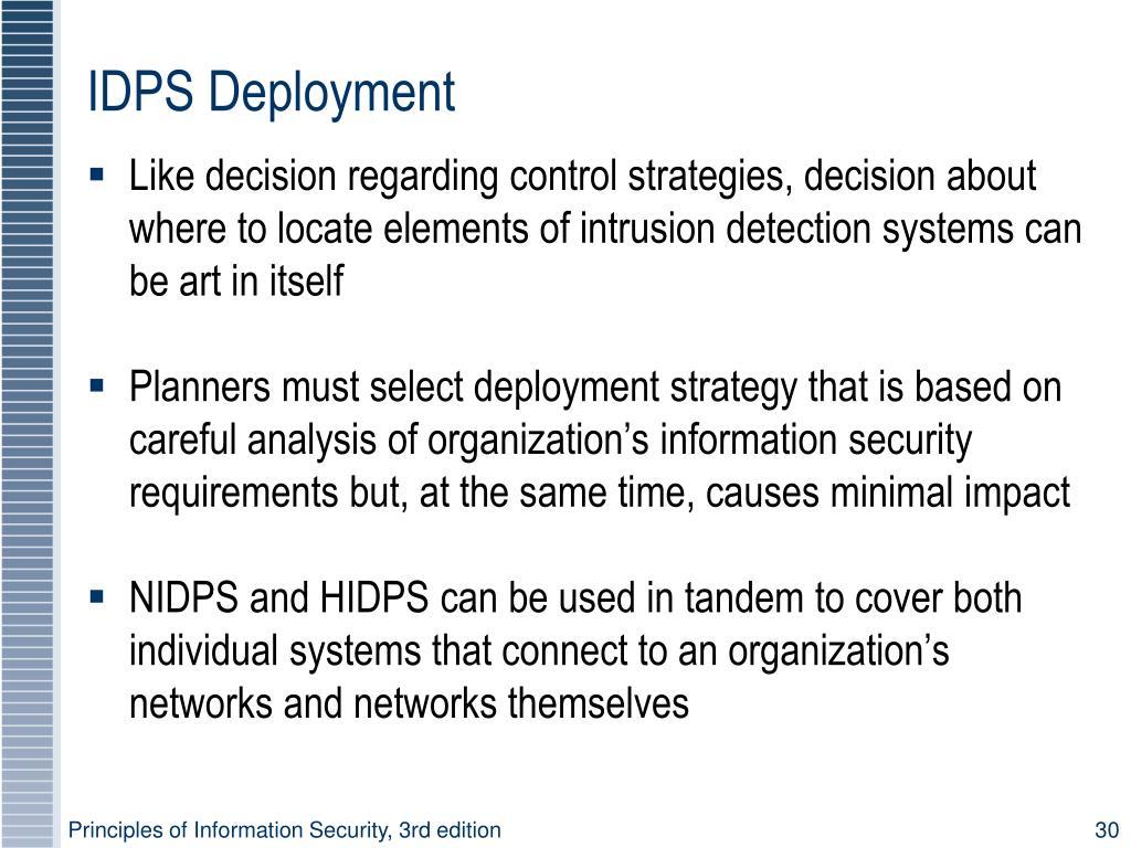 IDPS Deployment