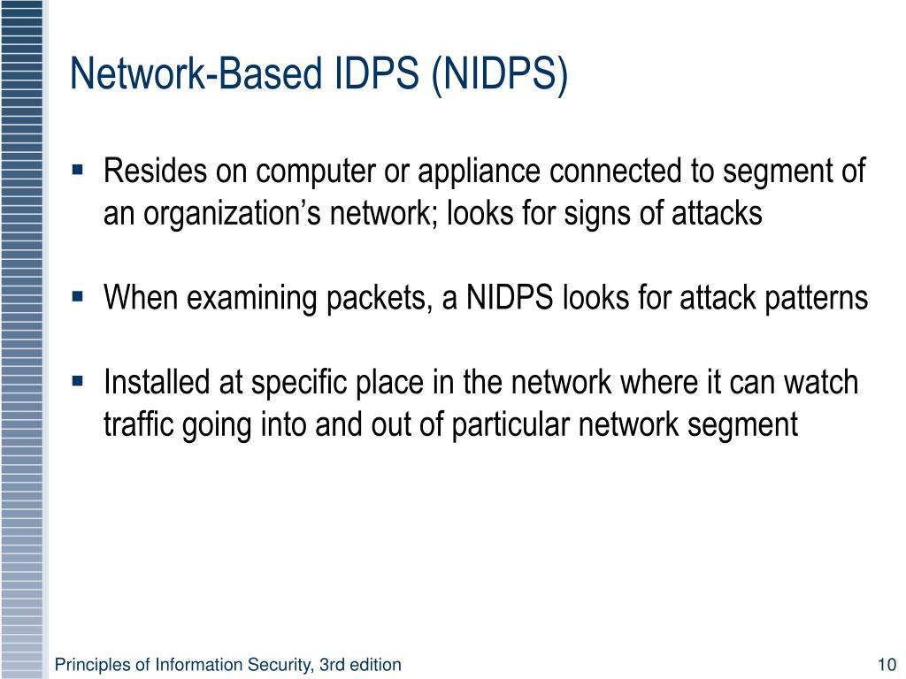 Network-Based IDPS (NIDPS)