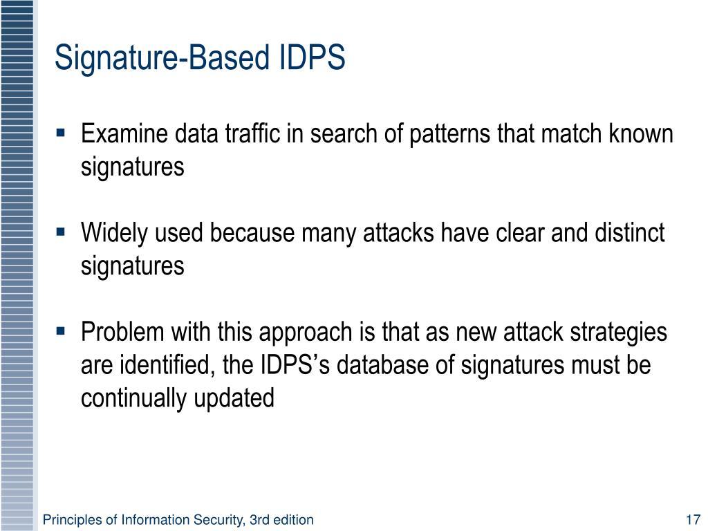 Signature-Based IDPS