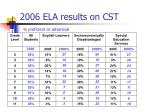 2006 ela results on cst proficient or advanced