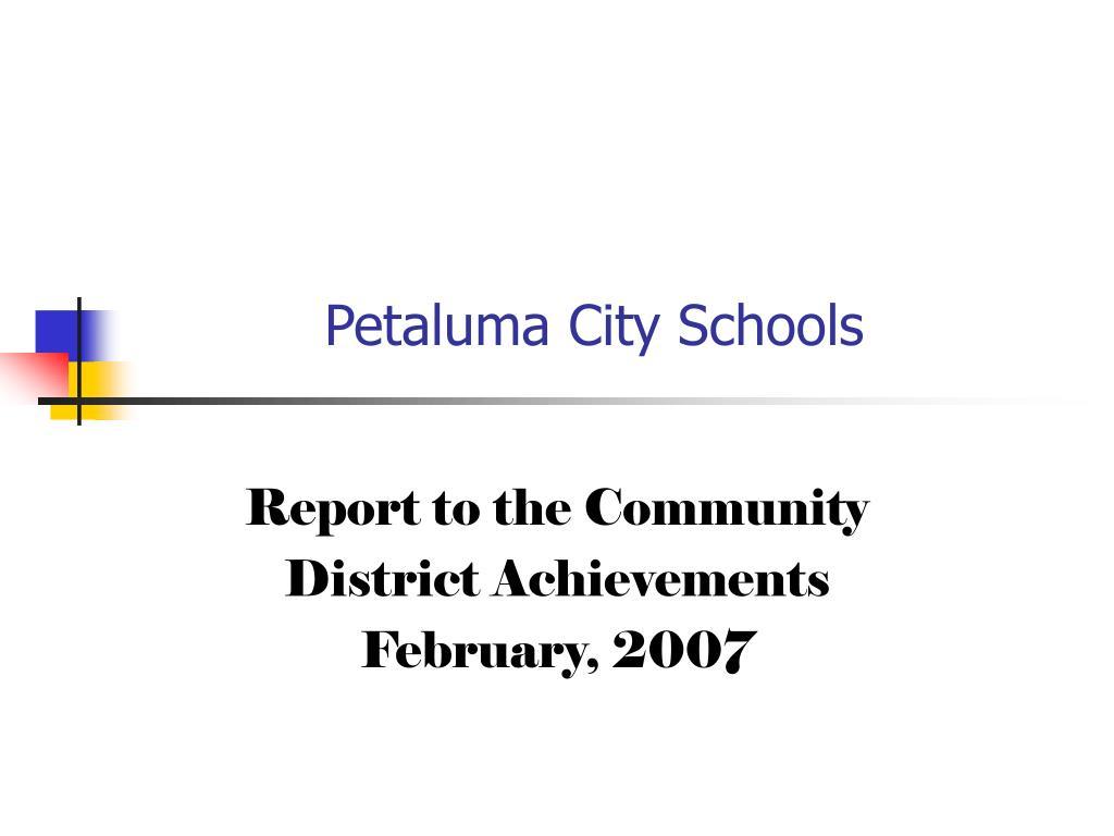 petaluma city schools l.