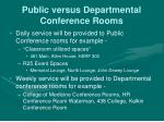 public versus departmental conference rooms