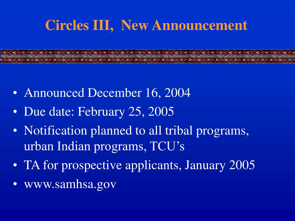 Circles III,  New Announcement