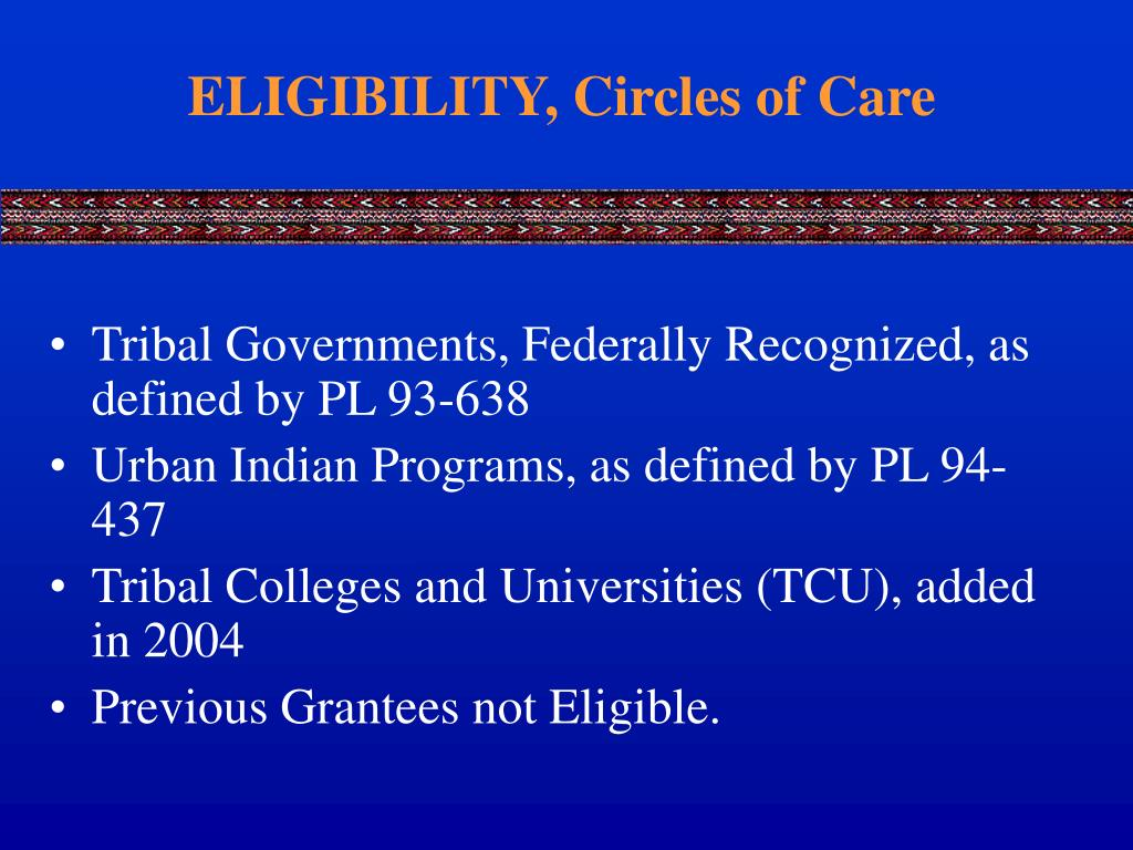 ELIGIBILITY, Circles of Care