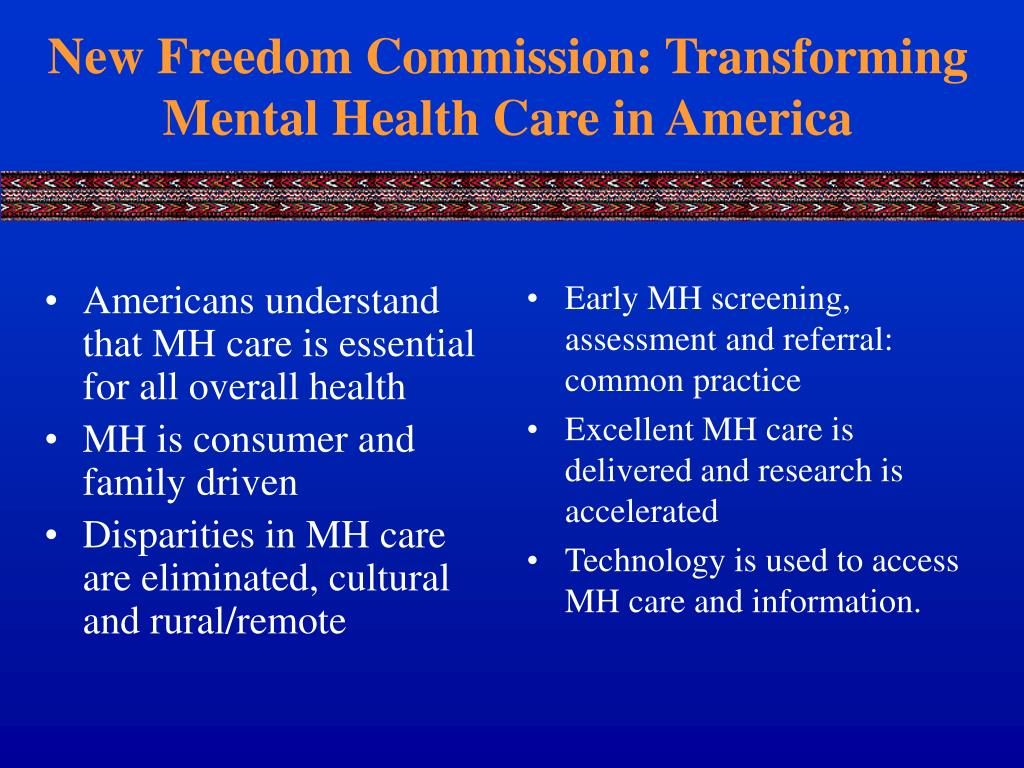 Americans understand that MH care is essential for all overall health