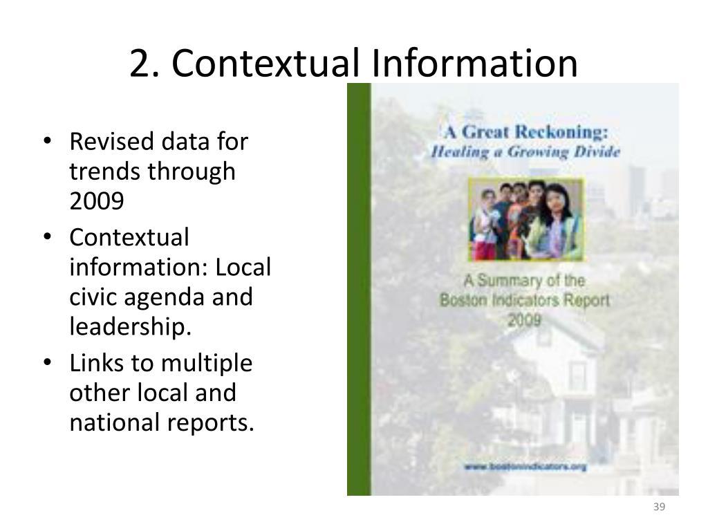 2. Contextual Information