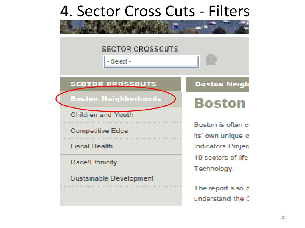 4. Sector Cross Cuts - Filters