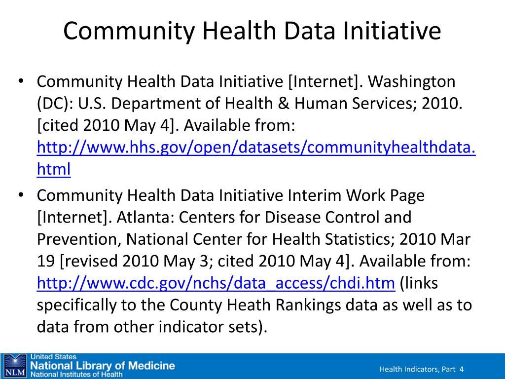 Community Health Data Initiative