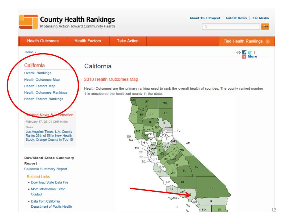 County Health Rankings Home Page - California