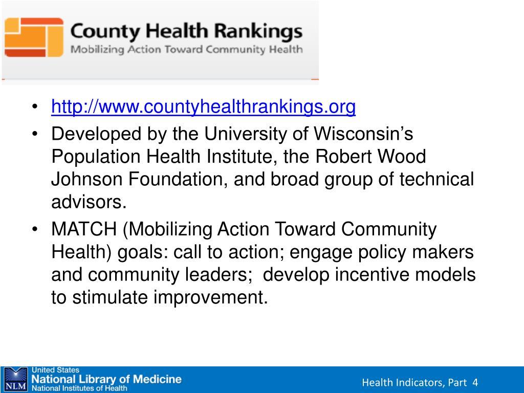 County Health Rankings
