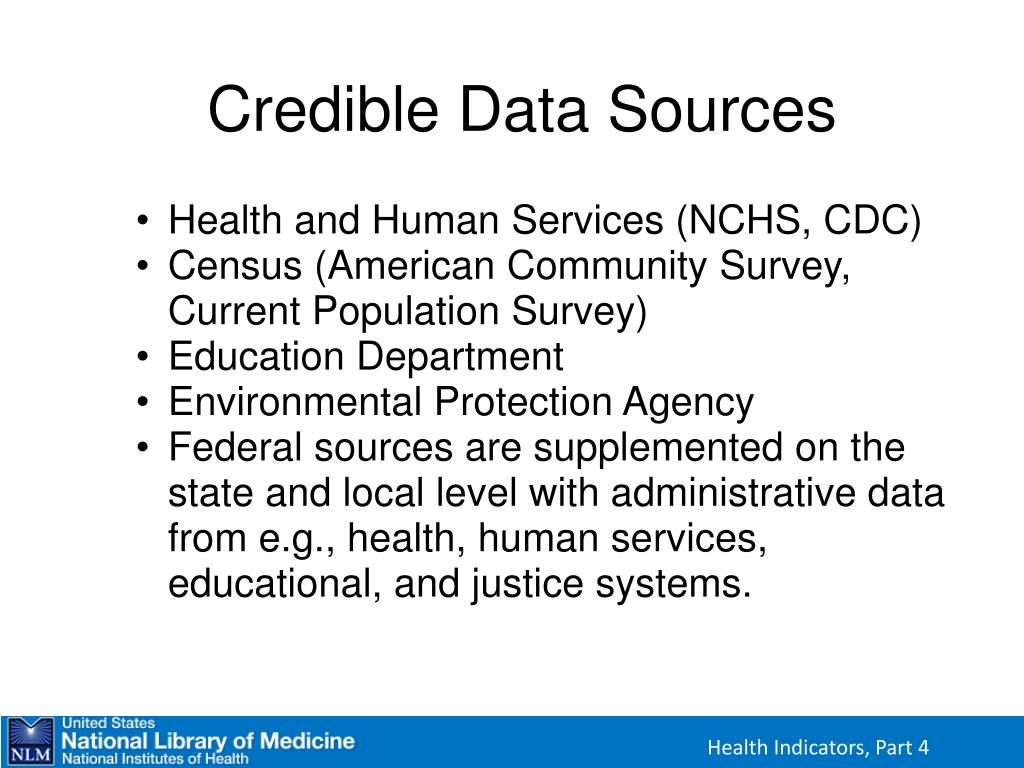 Credible Data Sources