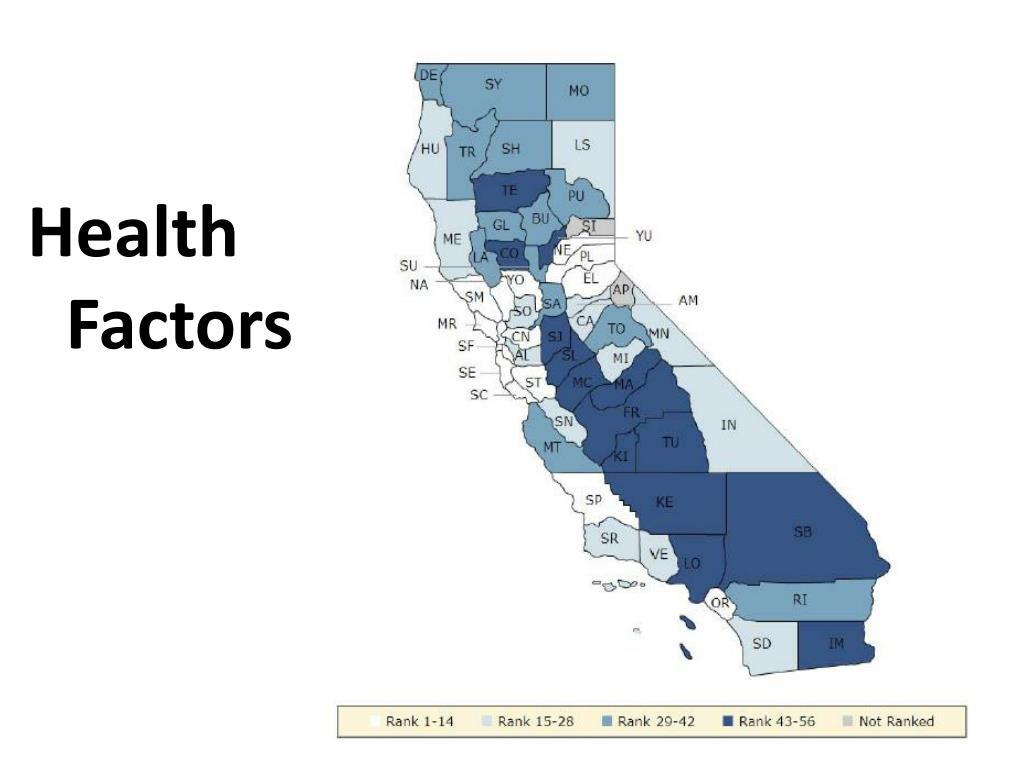 Health Factors Map
