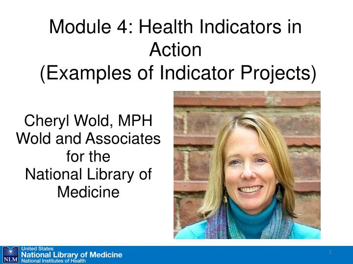 Module 4 health indicators in action examples of indicator projects