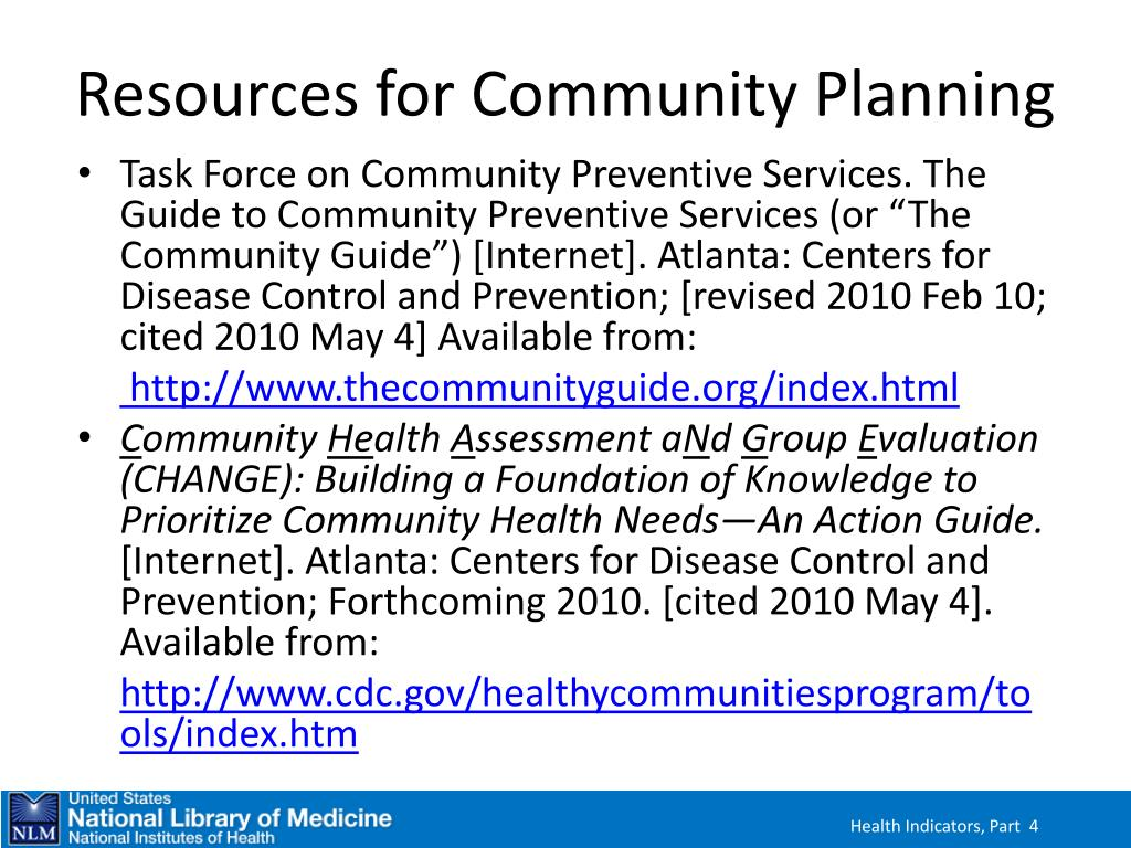 Resources for Community Planning