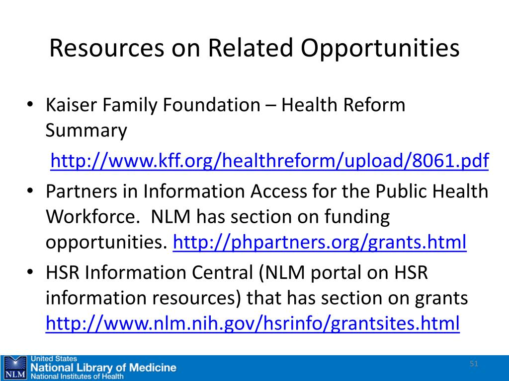 Resources on Related Opportunities