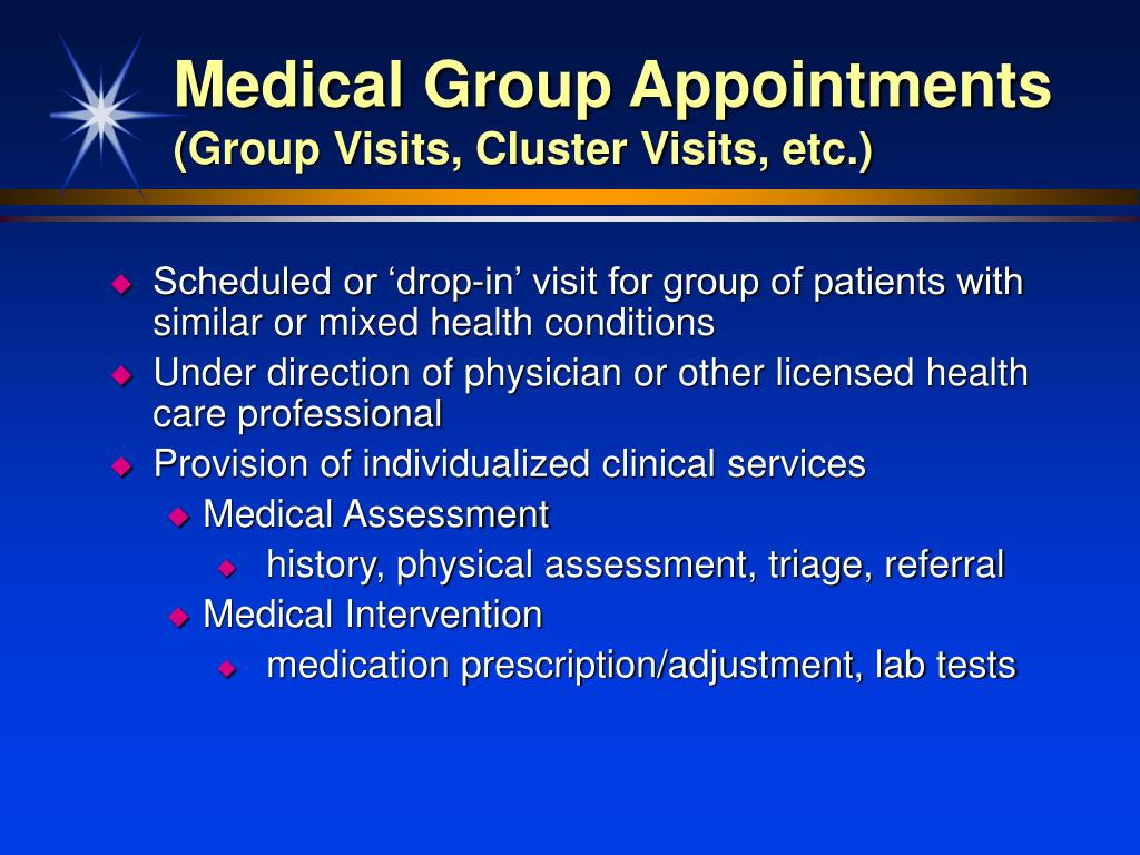 Medical Group Appointments