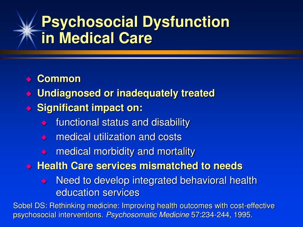 Psychosocial Dysfunction