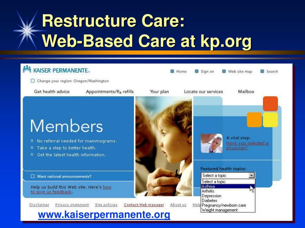 Restructure Care:
