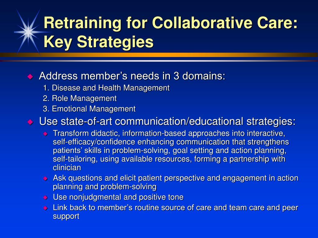 Retraining for Collaborative Care: