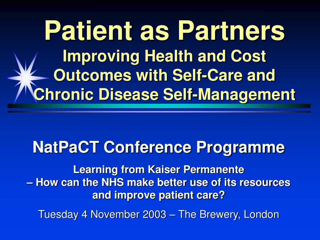 Patient as Partners