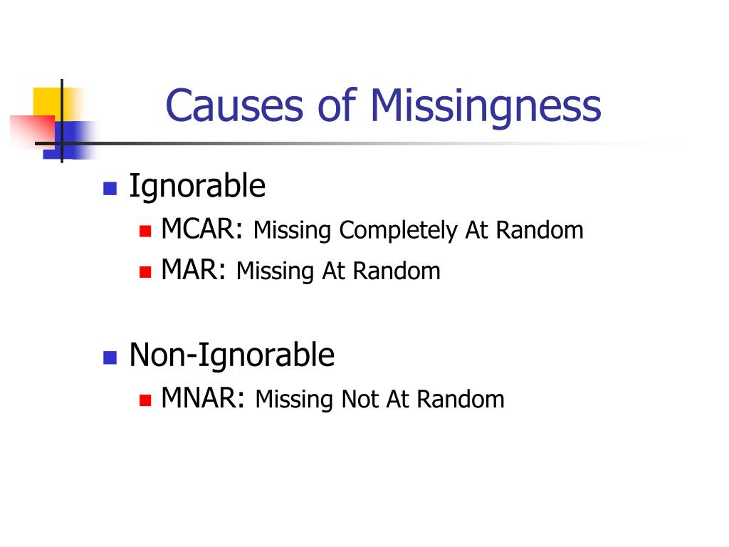 Causes of Missingness