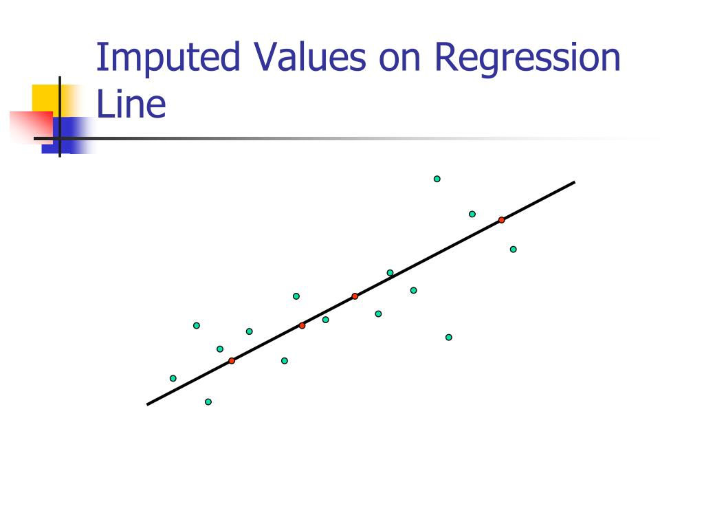 Imputed Values on Regression Line