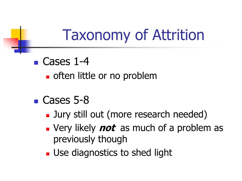 Taxonomy of Attrition
