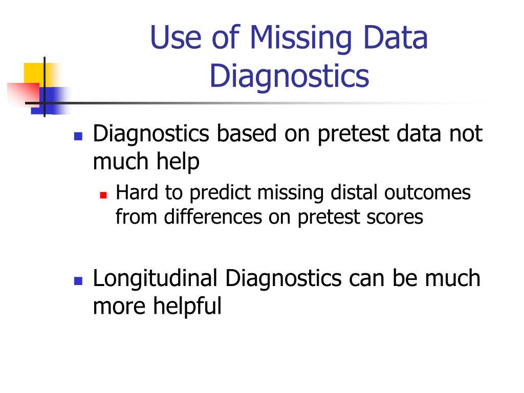 Use of Missing Data Diagnostics