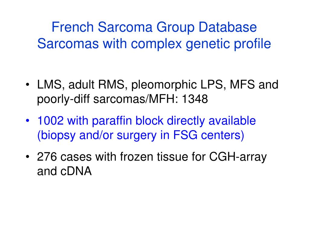 French Sarcoma Group Database