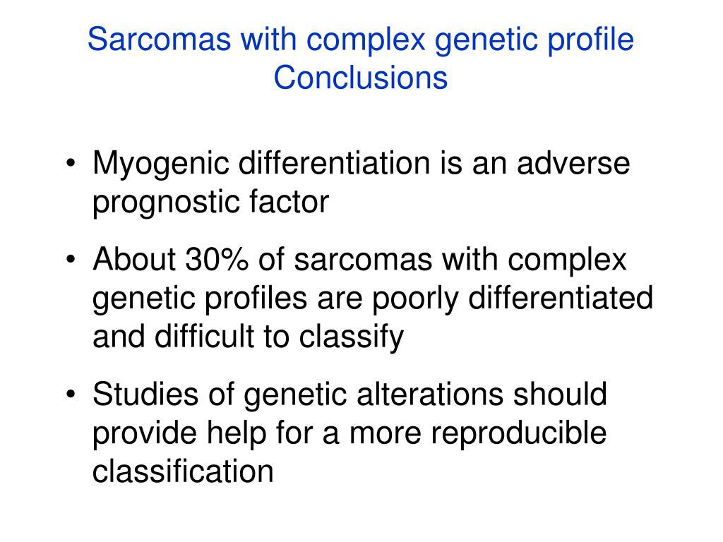 Sarcomas with complex genetic profile