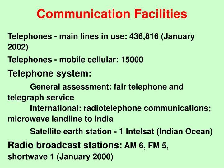 Communication Facilities