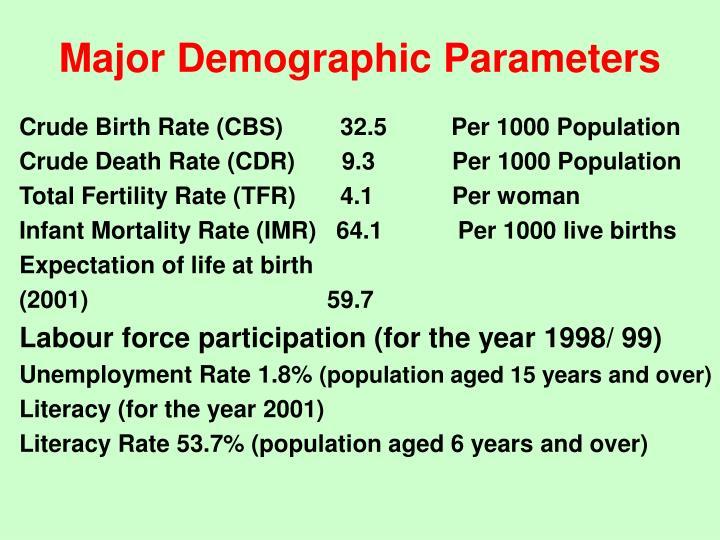 Major Demographic Parameters