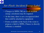 arc flash incident energy label