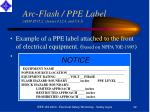 arc flash ppe label ansi z535 2 clauses 4 12 4 and 5 4 1