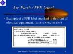 arc flash ppe label