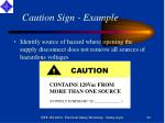 caution sign example