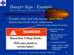 danger sign example based on interpretation of ansi z535 1 1997 replaces z53 1 1979