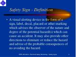 safety sign definition