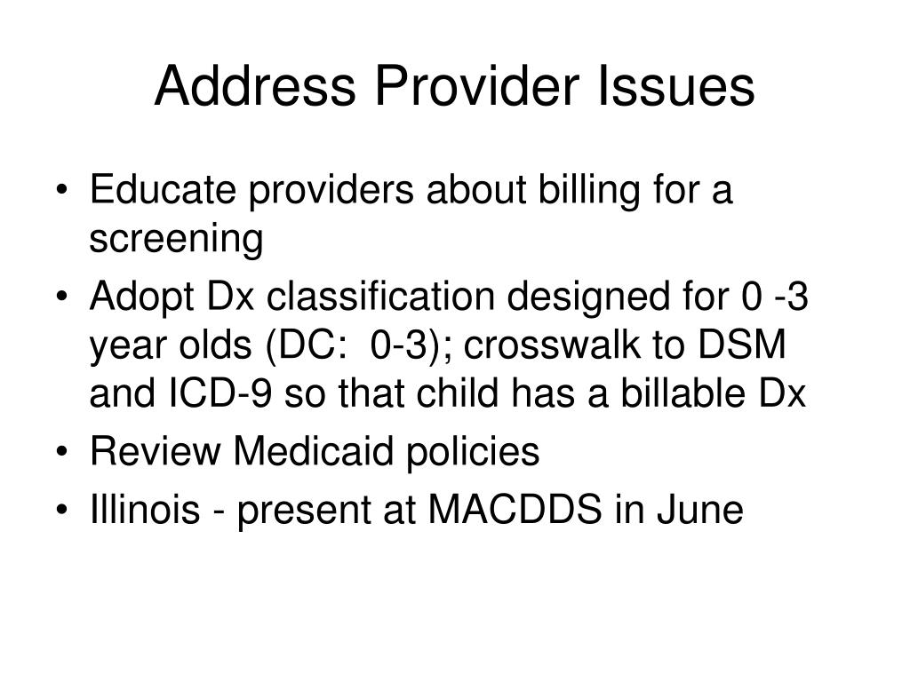 Address Provider Issues