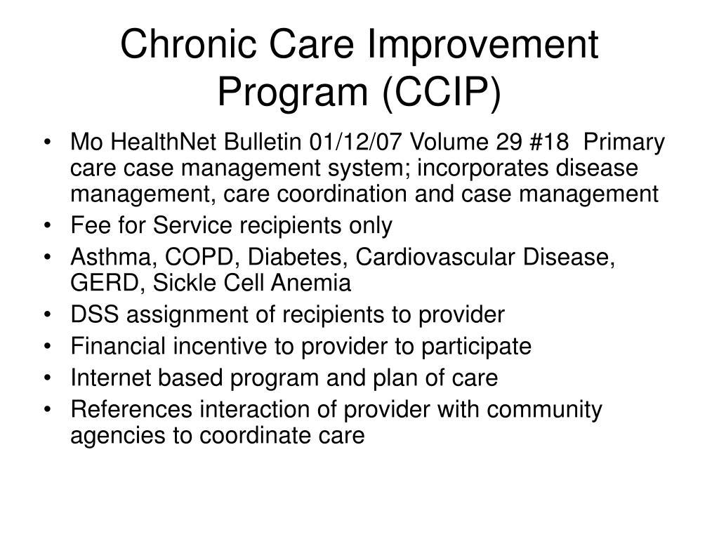 Chronic Care Improvement Program (CCIP)