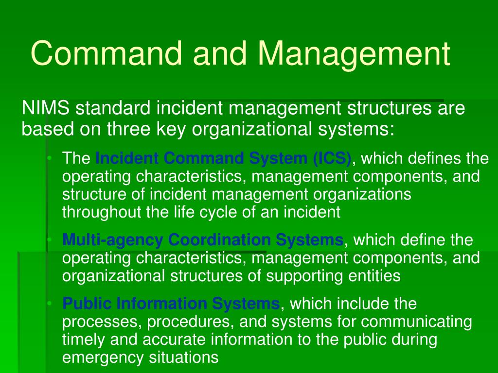 Command and Management