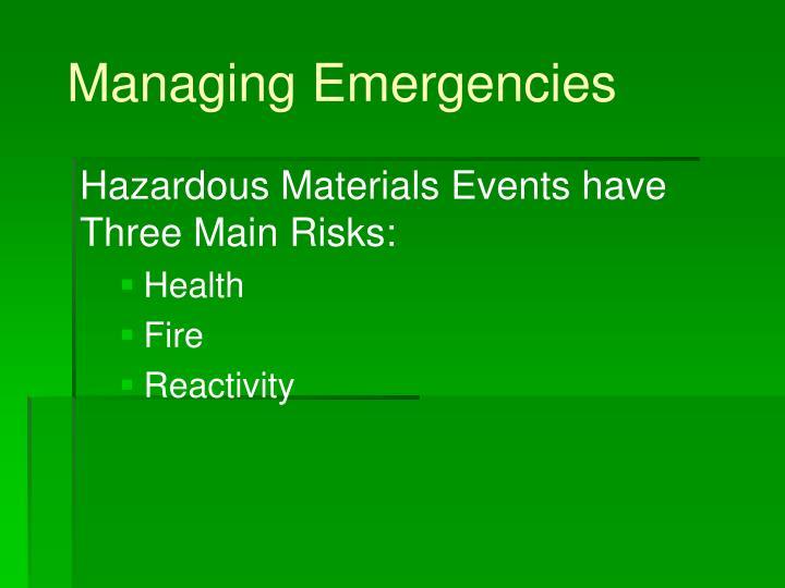 Managing emergencies2